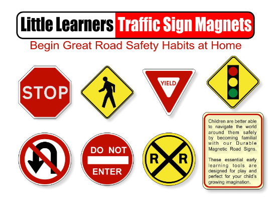 Educational Traffic Signs, Magnetic Traffic Signs, Safety Signs